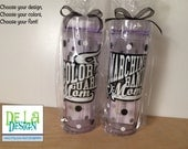 Marching band Mom, Color Guard Mom, Personalized acrylic tumbler, Available in skinny, standard, sport bottle, mason, kiddie cup & XL cup