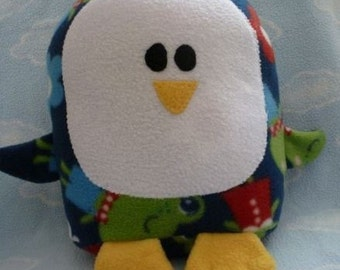 Plush Froggy Print Penguin Pillow Pal, Baby Safe, Machine Washable