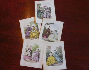 Vintage Notecards / Victorian Ladies Notecards