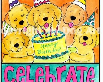 Golden Retriever Birthday T shirt