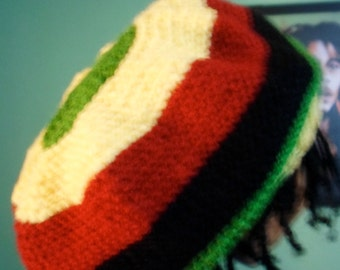 Knit Rasta One Love Hat (M-L)