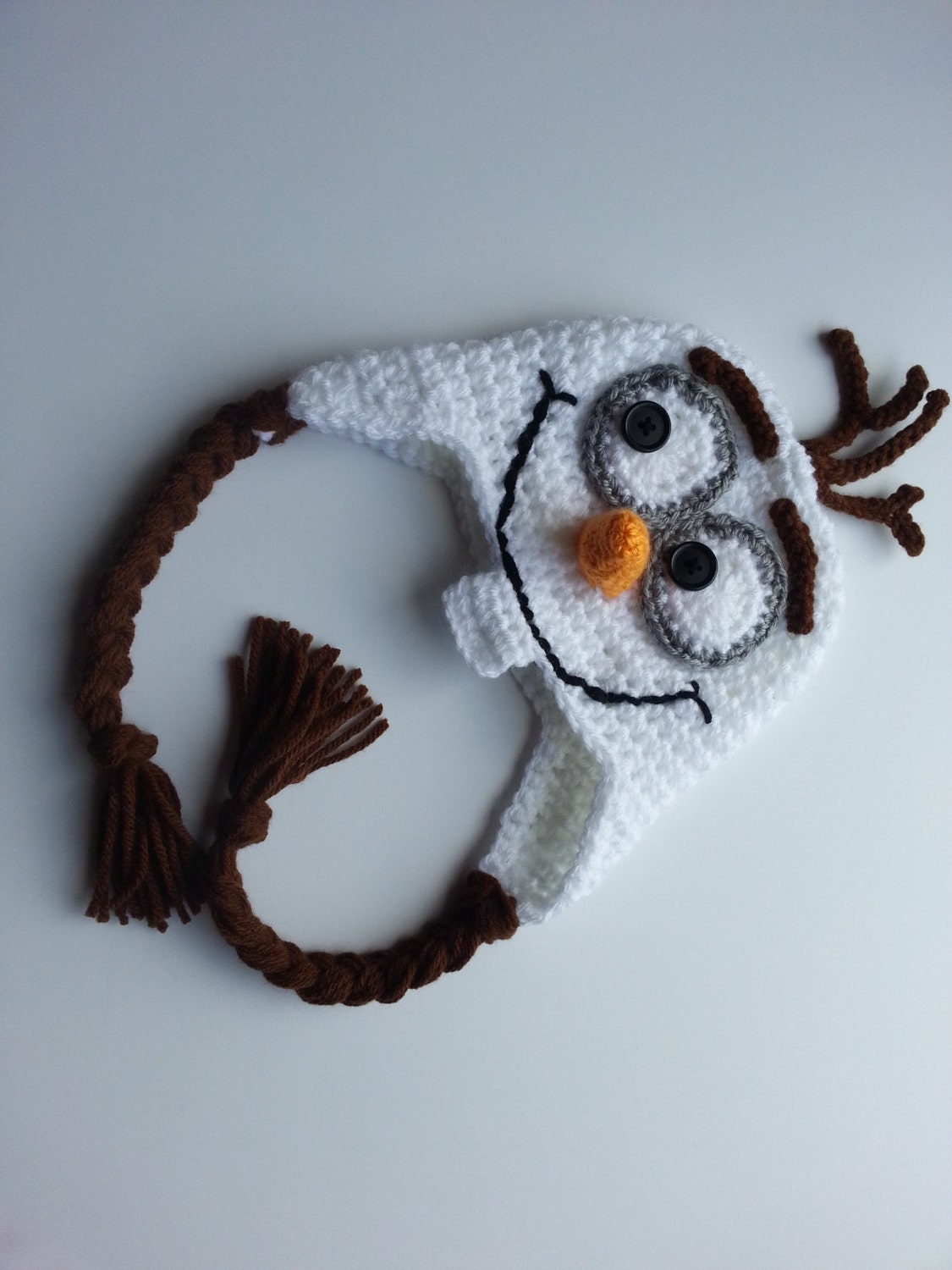 Crochet Olaf Hat Frozen Hats photo prop-Olaf by crochetjandra