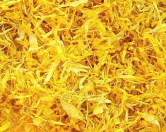 1-6 Cups CALENDULA PETALS, Premium No Stems Just Petals // Dried Calendula Flowers, Herbal Skin Soother Remedies 1 2 3 4 oz