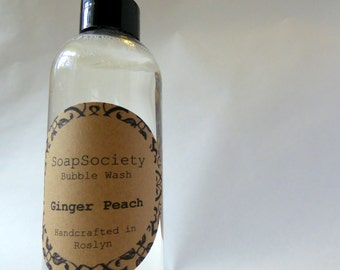 Fresh Bubble Wash - Ginger Peach - Moisture Rich Body Wash - Bubble Bath