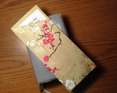 Tract holder large size cherry blossom and gold foil print international convention gift idea