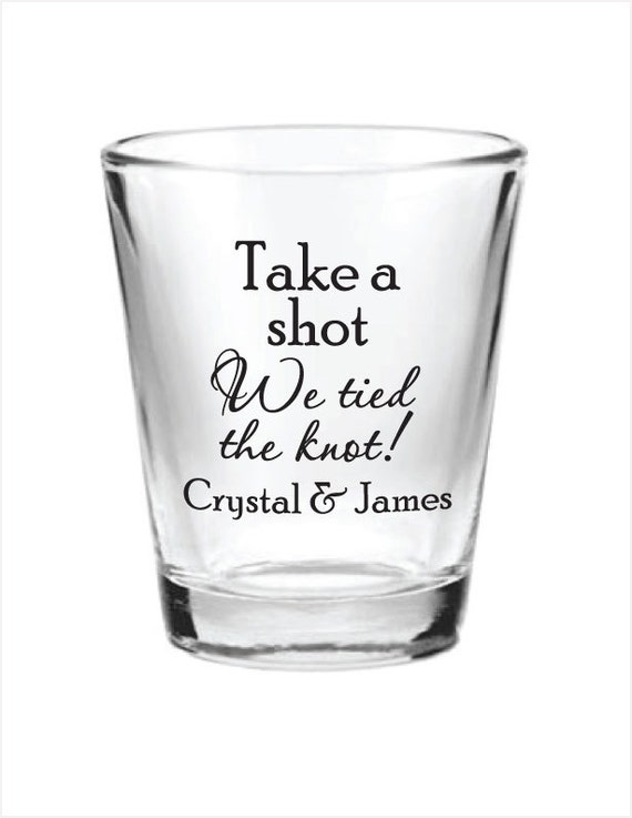 ... Wedding Favor Glass Shot Glasses Personalized NEW 2015 Wedding Favors