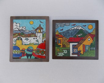 Vibrant Enamel Paintings on Copper