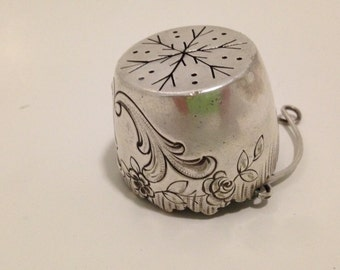 1800s French Silver Basket Tea Strainer Sterling Silver Antique  -30% REDUCED PRICE