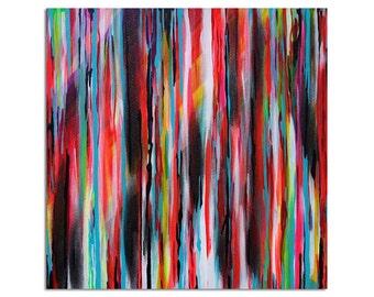 Neon Spectrum Abstract original painting