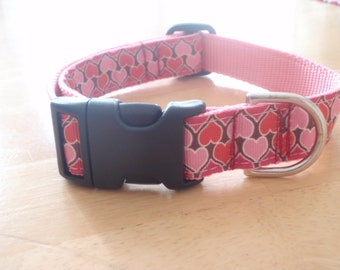 Happy Valentines Day Heart Dog Collar
