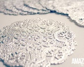 4-Inch silver Royal Lace Round Foil Doilies, pack of 10