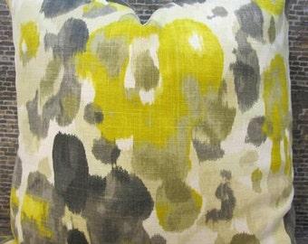 Designer Pillow Cover - 18 x 18, 20 x 20, 22 x 22 - Dwell Studio Landsmeer Citrine