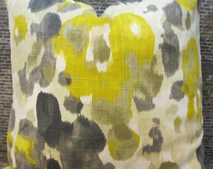 Designer Pillow Cover - 18 x 18, 20 x 20, 22 x 22, 24 x 24 - Dwell Studio Landsmeer Citrine