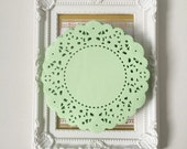 50 Mint color paper doilies for wedding decoration/ pack