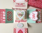 I heart you handmade Custom love box card