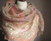 Sweet Pudding -  hand knitted shawl cashmere