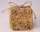 Christmas gift box Gift box trinket box green and gold beaded jewel keepsake box bridesmaid gift box wedding favor jewelry gift box