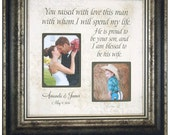 Mother of the Groom Gift Parents of the Groom Gift, Personalized Picture Frame, Personalized Wedding Frame, YOU RAISED With LOVE 16 X 16
