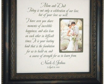 Parents Of The Groom Wedding Frame Gift By PhotoFrameOriginals