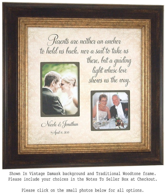 Wedding Picture Frame Parents Of The Bride By PhotoFrameOriginals
