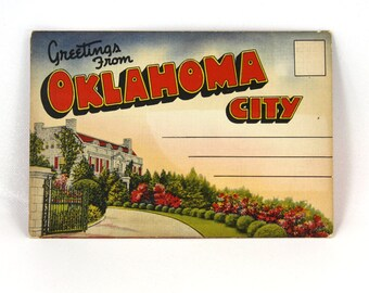 Postcard Booklet Oklahoma City