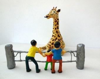 African Giraffe Animal Paper Sculpture