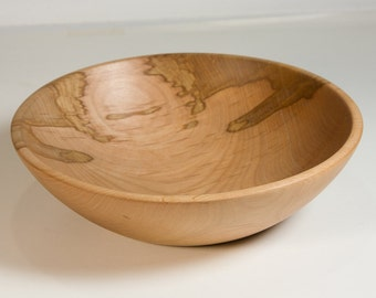 Wooden bowl turned from spalted alder