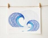 Surf Art - Surf's Up - Beach Art Print - Ocean Art