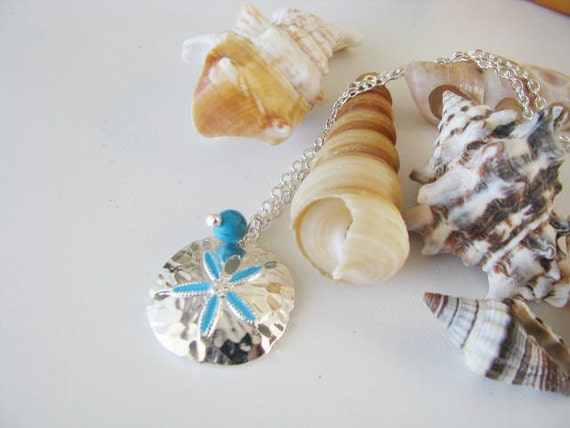 Great Wedding Gifts For Bridesmaids : Great Bridesmaids gifts Turquoise Bead sand Dollar Chain Necklace ...