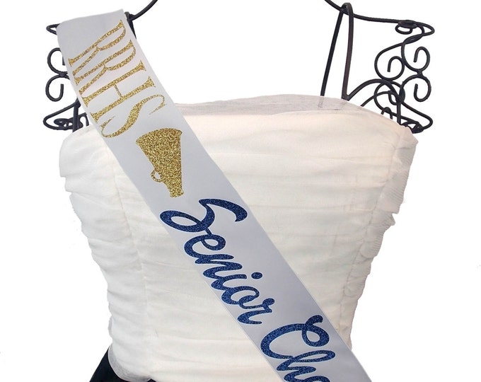Cheerleading Sash Senior Cheer Any Color- With Name