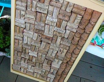 Bulletin Board/Wine Cork Art/Message Center/Wedding Organizer/Wedding Decor