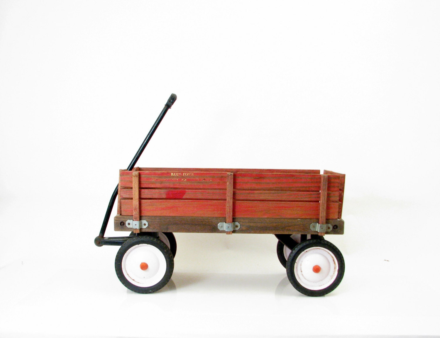 Vintage Wagon 1980s Radio Flyer Red Wagon Removable Wood Sides