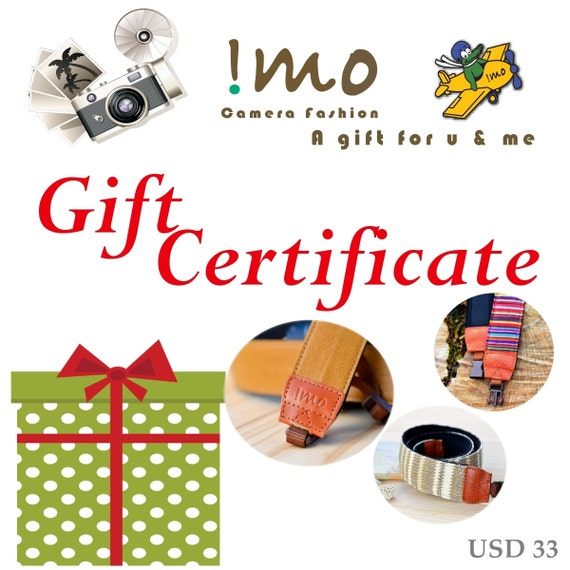 iMo Camera Strap Gift Certificate USD33