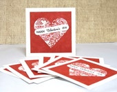 Valentine's Cards for Kids, Classroom Valentines, Happy Valentines Day, Hearts Card, Set of 8