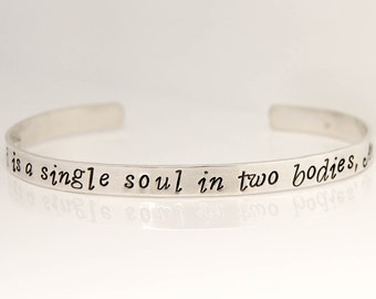 Personalized sterling silver cuff, Wedding party Bracelet, bridesmaid Jewelry, wedding cuff, wedding jewelry, bridesmaid bracelet