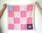 Crochet Dream Catcher Blanket. Total PINK Square Afghan. Christeneng Baby Gift. Kid Stroller Throw. Home Decor Bed Cover. Newborn Toddlers