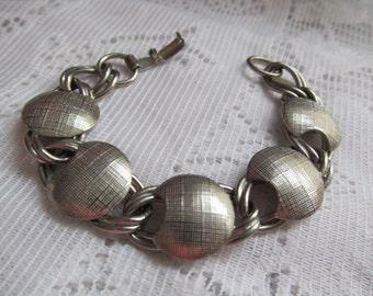Vintage Silver Tone Link Bracelet