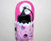 phone charging holder, docking station, iPhone holder, iPod touch holder, smart phone, cell phone holder, phone charging unit, pink cup cake