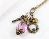 I Promise Cluster Charm Necklace