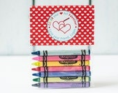 Printable Crayon Valentine Topper