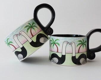 Vintage Vandor Import Bird Mugs