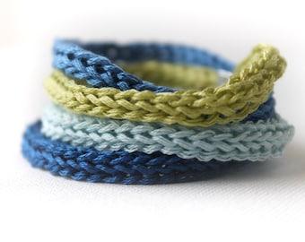 Bracelet - Crochet Bracelet - Color Rays Bracelet - Jewelry Crochet - adjustable fiber bangle