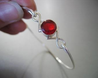 GARNET CRISSCROSS bangle bracelet