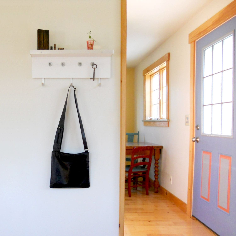 Coat Rack Shelf Modern Wall Mount Coat And Key Hooks With