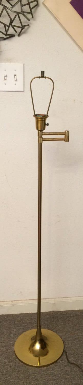 vintage laurel floor lamp brass swing arm mid century modern. Black Bedroom Furniture Sets. Home Design Ideas
