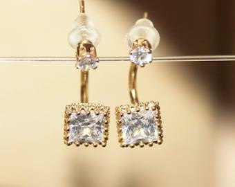 gold dangle stone earrings,Bridal wedding earrings Drop,small dangle earrings,gemstone earrings,gold filled earrings, bridal earrings