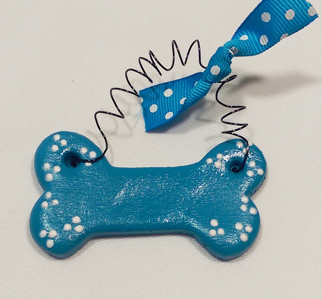 Personalized dog ornament custom dog bone christmas ornament for Dog bone ornaments craft