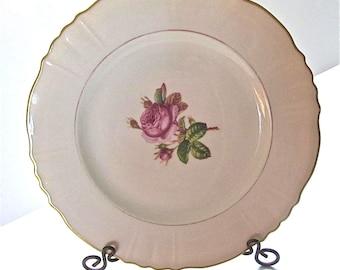 """Vintage Syracuse China Rosalie Pattern 10"""" Dinner Plates, Set of 2"""