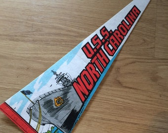 U.S.S. North Carolina Pennant