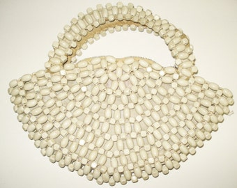 Vintage 1930s Handbag . Czechoslovakia  - Evening Purse . Beaded